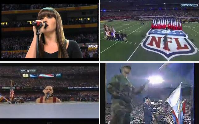 Kelly clarkson national anthem super bowl