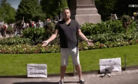 Watch a Man with HIV Ask Strangers to Touch Him