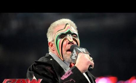 The Ultimate Warrior on Monday Night Raw