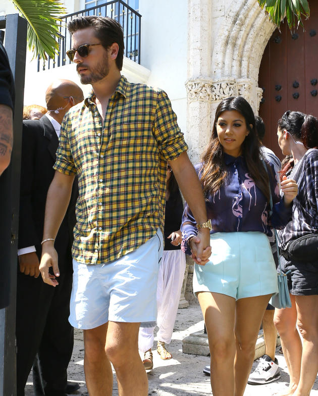 Kourtney Kardahsian and Scott Disick in Miami