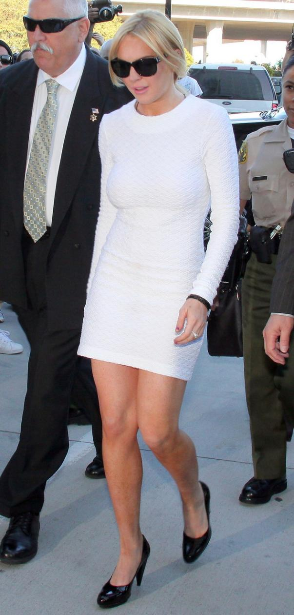 Lindsay Lohan White Dress