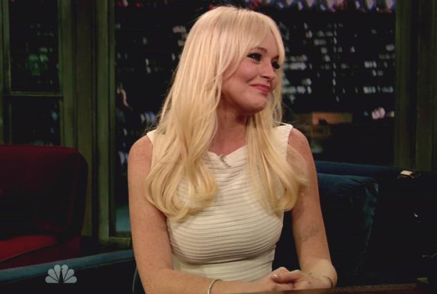 Lindsay Lohan on Late Night