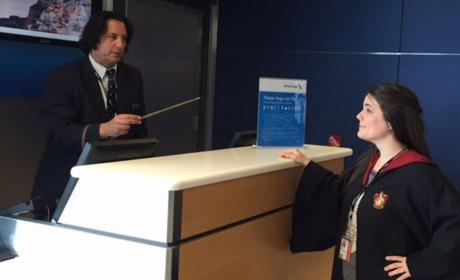 American Airlines Employee Looks JUST Like Severus Snape!