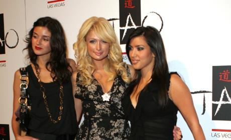 Caroline D'Amore, Paris Hilton and Kim Kardashian: Tao Las Vegas One-Year Anniversary