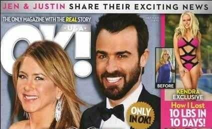 Jennifer Aniston and Justin Theroux Already Married, According to Tabloid