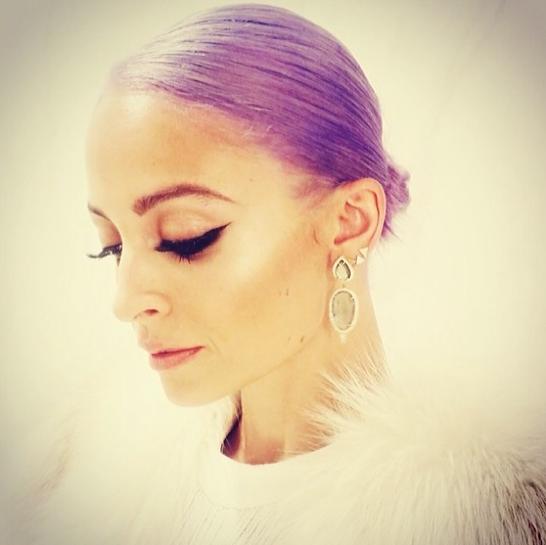 Nicole Richie Purple Hair Pic