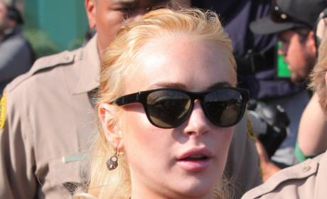 Lindsay Lohan Strategizing With Legal Team