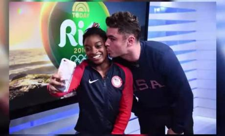 Simone Biles Finally Meets Zac Efron