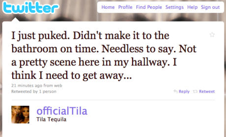 Tila Tequila Twitter Ticker: Pimping Out Gossip Site, Faking Morning Sickness