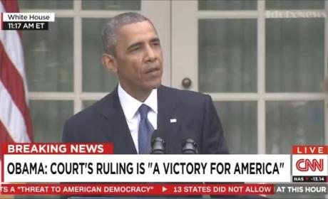 "President Obama on Gay Marriage Decision: It's a ""Victory of America"""