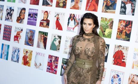 Kim Kardashian Nearly Bares All