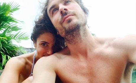 Ian Somerhalder: Shirtless, Posing with Nikki Reed on Honeymoon!