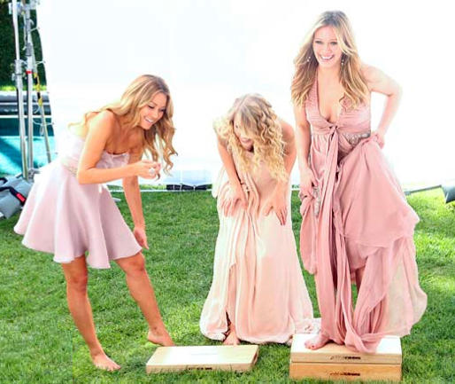 Lauren Conrad, Taylor Swift, Hilary Duff