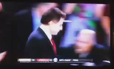Rick Pitino: Scared by Confetti Explosion!