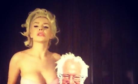 "Courtney Stodden Gives ""Bernie Sanders"" a Lap Dance in Hilarious Instagram Video"