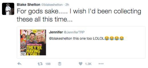 Blake Shelton Tweets Response to Wedding Rumors 3