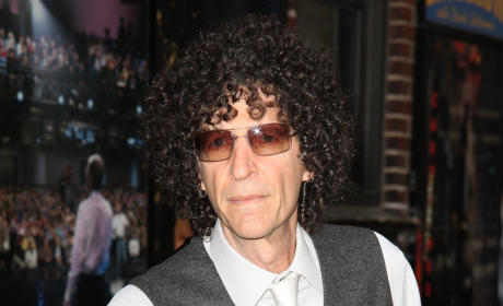 Howard Stern at David Letterman