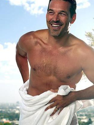 Eddie Cibrian in Just a Towel