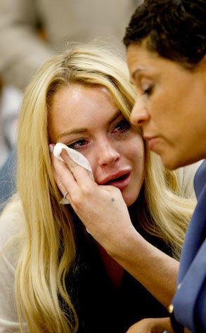 Lohan Cries