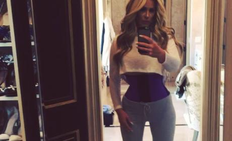 Kim Zolciak Waist Training Footage