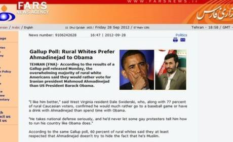 Iran News Website Quotes Onion Spoof Claiming Ahmadinejad More Popular Than Obama