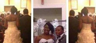 Bride Ties Baby to Wedding Dress, Drags Child Down Aisle: See the Pics!