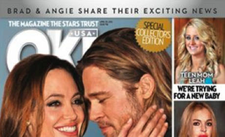 Tabloid Celebrates Brad Pitt-Angelina Jolie Engagement, is Actually Correct This Time!