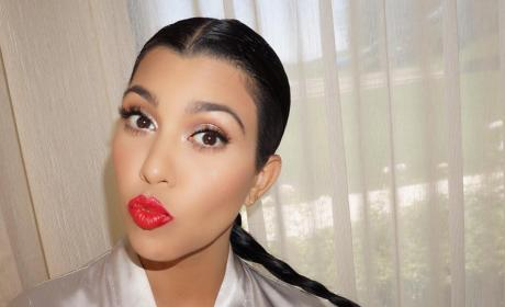 Kourtney Kardashian Ponytail Picture