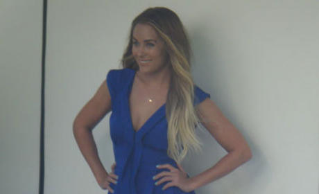LC in a Blue Dress