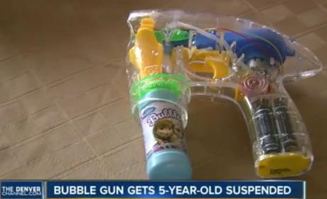 Kindergartener Gets Suspended from School for Bubble Gun