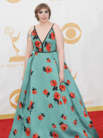 Lena Dunham at the Emmys