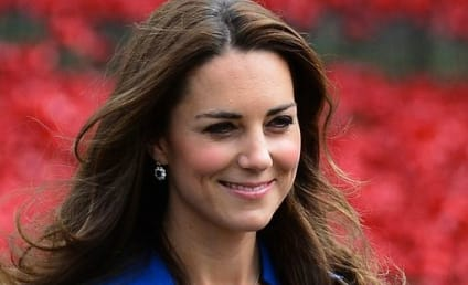 Kate Middleton Baby Bump Sighting? Duchess Stuns in Blue Dress, Holds Purse Strategically