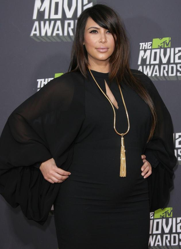 Pregnant Kim Kardashian Pose