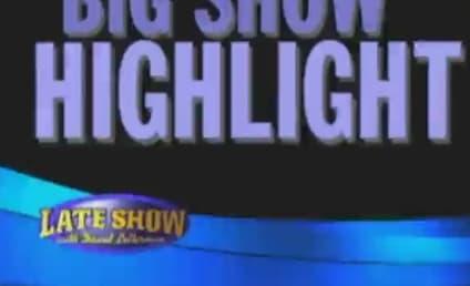 Megan Fox Does David Letterman