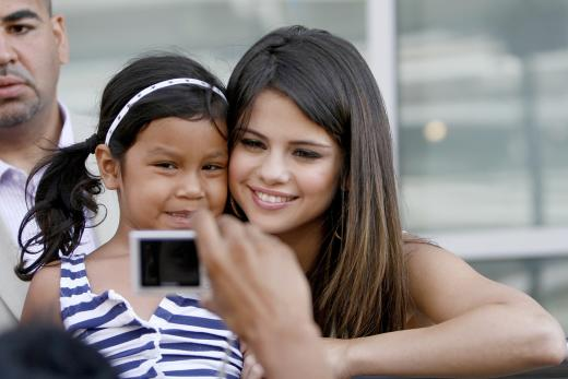 Selena and a Fan