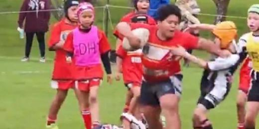 Rugby Kid Goes Off