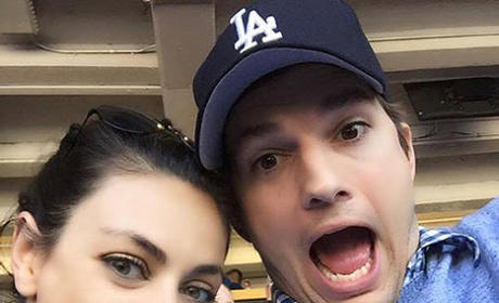 Ashton Kutcher and Mila Kunis: Goofy Selfie Alert!