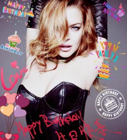 Lindsay Lohan Birthday Image