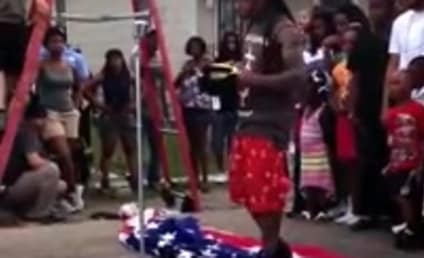 "Lil Wayne Stomps on American Flag For ""God Bless Amerika"" Music Video Shoot"