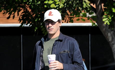 Jon Hamm Grabs A Cup of Coffee