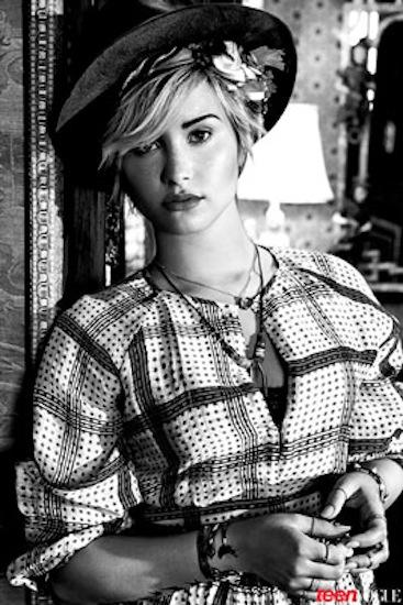 Demi Lovato in Black and White