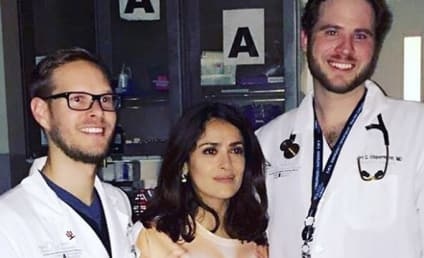 Salma Hayek Wins Internet with Hilarious Hospital Photo