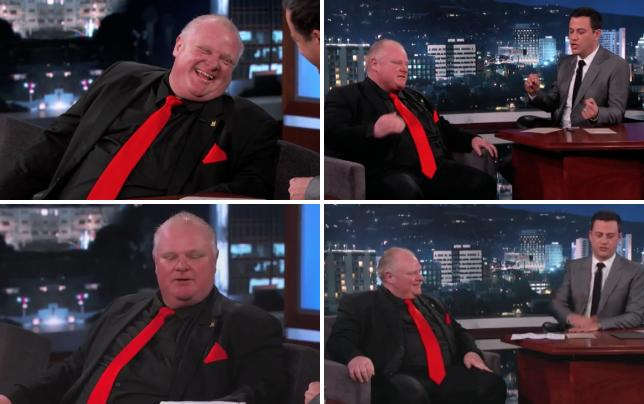 Rob ford on jimmy kimmel live part 1