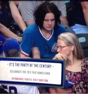 Jack White Cubs Game Photo