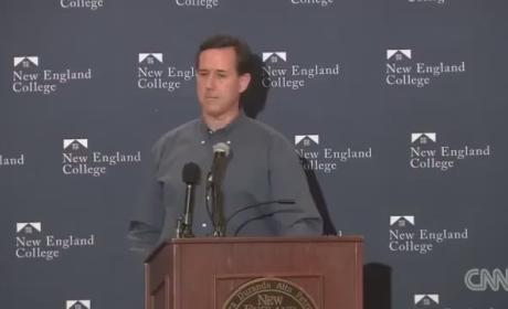 Rick Santorum Likens Gay Marriage to Polygamy; Booed Off Stage in New Hampshire