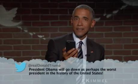 Barack Obama Reads Donald Trump Tweet