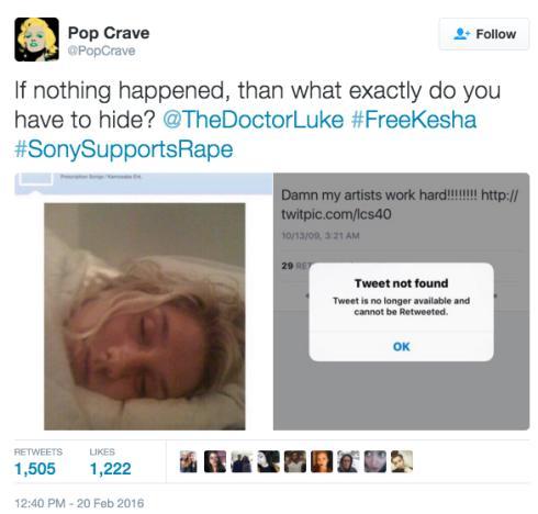Dr. Luke's twitpic of Kesha sleeping