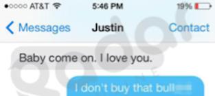 Justin Bieber Texts to Selena Gomez?