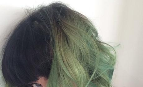 Katy Perry Green Hair Photo