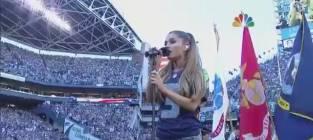 Ariana Grande National Anthem (2014 NFL Opening Night)